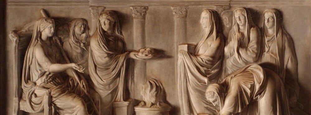 mujeres en la antigua roma vestales